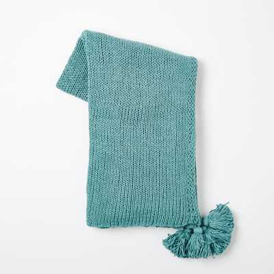 Cotton Tassel Throw - Peacock - West Elm