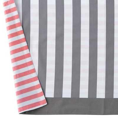 Hop to It Reversible Stripe Crib Skirt - Land of Nod