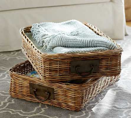 Caden Rectangular Ottoman Basket - Pottery Barn