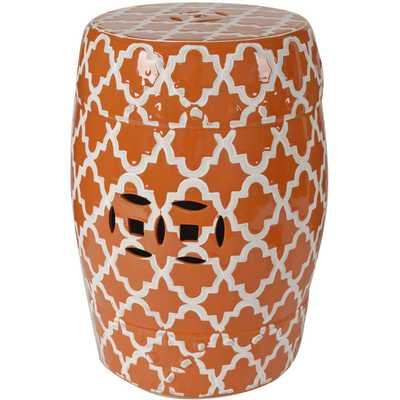 Orange Pattern Garden Stool - High Fashion Home