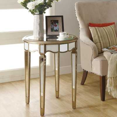 Mirrored Scalloped End Table by Monarch Specialties Inc. - Wayfair