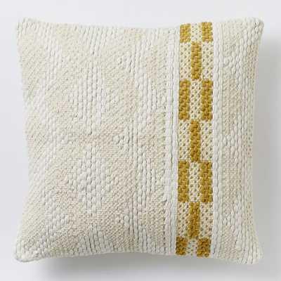 Diamond Color Stripe Pillow Cover – Horseradish - West Elm