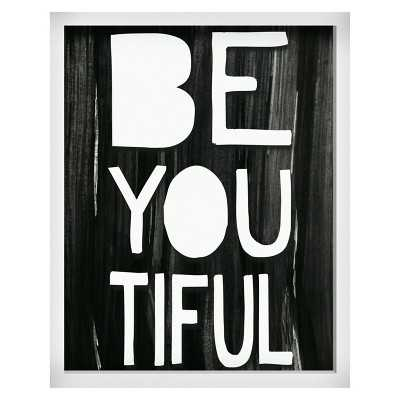 "Be-you-tiful Screen Printed Glass Art - Pillowfortâ""¢ - 20H x 16W x 1.38D - Framed - Target"