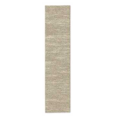 Watercolor Solid Rug - Mushroom - 2.5'x12' - West Elm