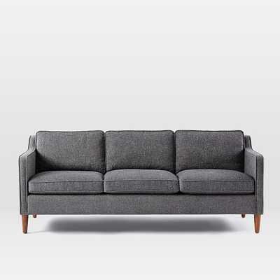 """Hamilton Upholstered Sofa- 81"""" -Brushed Heathered Cotton-Gray Haze - West Elm"""