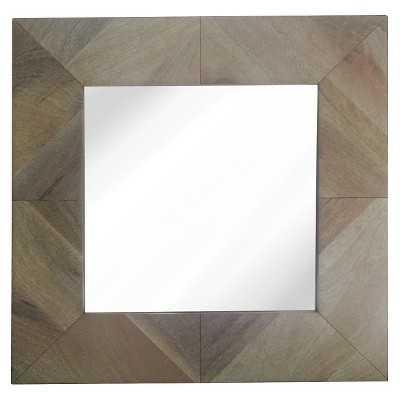 "Thresholdâ""¢ Square Wood Mirror 22"" - Target"