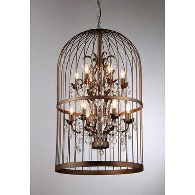 Warehouse of Tiffany Rinee III Cage Chandelier - Overstock