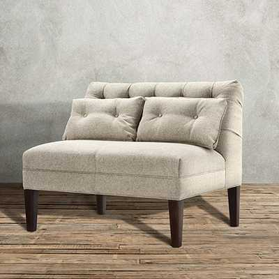 EATON TUFTED UPHOLSTERED BENCH IN THEATER GUNSMOKE AND HICKORY - Arhaus