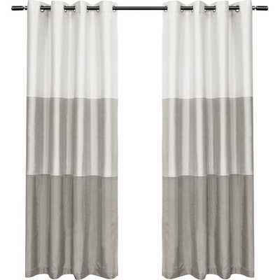 "Exclusive Home Curtain Panel - Dove Gray, 96""L - AllModern"