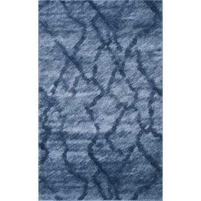 Retro Blue & Dark Blue Area Rug - Wayfair