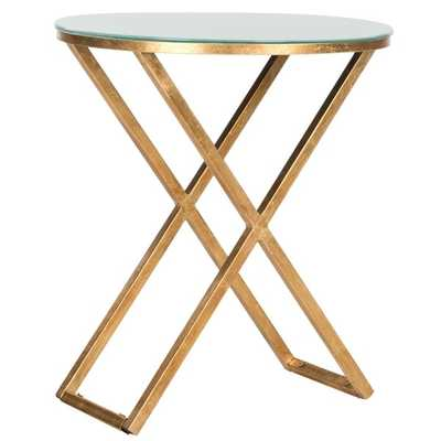 Safavieh Treasures Riona Gold/ White Top Accent Table - Overstock