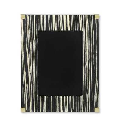 "Black Zebrawood & Brass Picture Frame, 5"" X 7"" - Williams Sonoma"