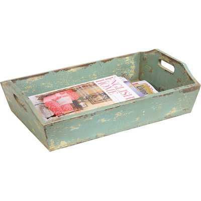 Ferne Painted Wood Tray with Handle - Wayfair