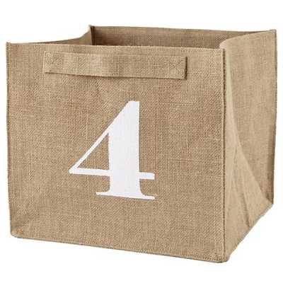 4 Store By Numbers Cube Bin - Land of Nod