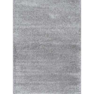 Soft and Plush Solid Shag Grey Rug (9'2 x 12') - Overstock