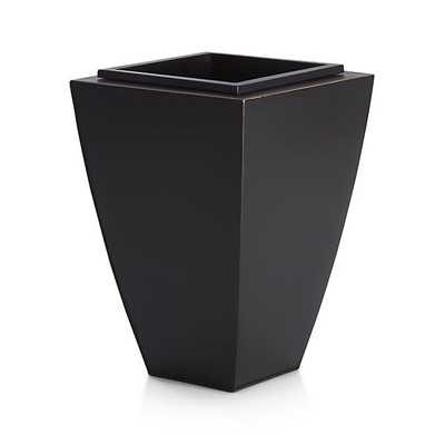 Bronze Small Tapered Planter - Crate and Barrel