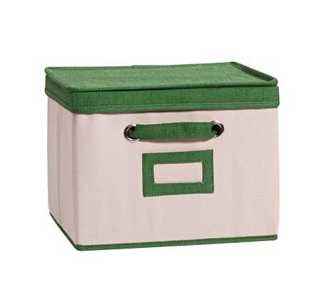 Green Contrast Border Lidded Storage - Pottery Barn Kids