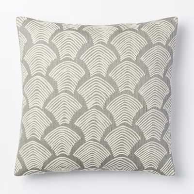 Crewel Deco Shells Pillow Cover - West Elm