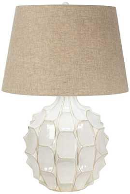 Cosgrove Mid-Century White Ceramic Table Lamp - Lamps Plus