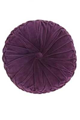Round Pintuck Pillow - Purple - Urban Outfitters