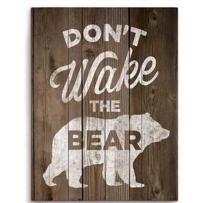 """Don't Wake The Bear Graphic Art, 12"""" H x 9"""" W x 1"""" D - Unframed - Wayfair"""