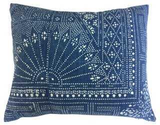 Indigo Batik Pillow - One Kings Lane