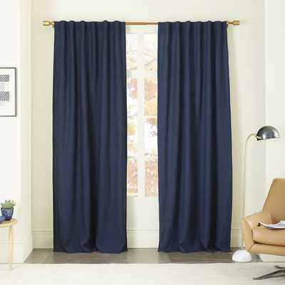 "Belgian Linen Curtain - 96""l x 48""w - West Elm"