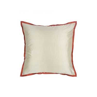 "Abu Dhabi Lucca Silk Euro Pillow 26"" x 26"" with insert - AllModern"