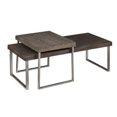 Newberry 2 Piece Nested Coffee Table Set - Wayfair