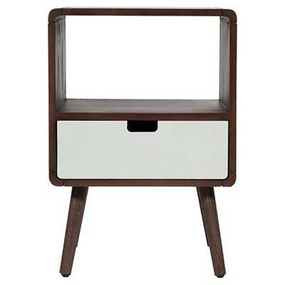 1-Drawer Mid-Century Kids Nightstand - Gray Marble - Target