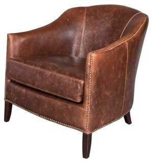 Madison Leather Club Chair - One Kings Lane