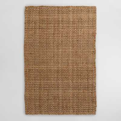 Natural Basket Weave Jute Rug - World Market/Cost Plus