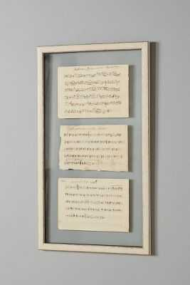 "Sheet Music Vintage Wall Art - 25""H, 13""W - Framed (Pine) - Anthropologie"