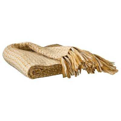 """Thresholdâ""""¢ Basketweave Throw - tibetan gold - Target"""