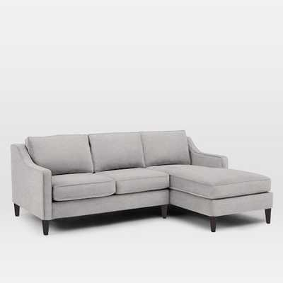 Paidge 2-Piece Chaise Sectional - Chenille Tweed, Frost Gray - West Elm