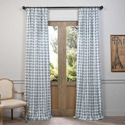 EFF Ashby Printed Cotton Curtain - Overstock