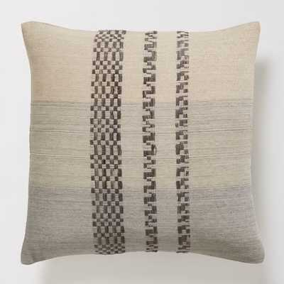 Checkered Stripe Pillow Cover - 18x18 - Insert Sold Separately - West Elm