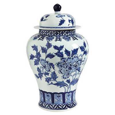 Blue & White Porcelain Large Temple Vase - Ballard Designs