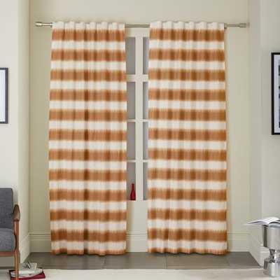 Ikat Stripe Printed Curtain - Sweet Potato - West Elm
