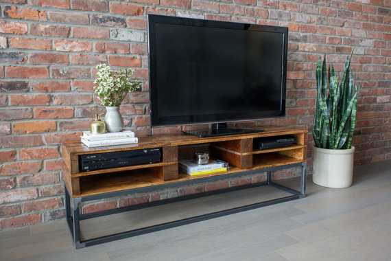 Reclaimed Wood Media Stand - Etsy
