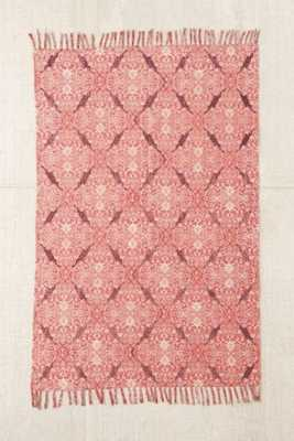 Magical Thinking Minu Worn Carpet Printed Rug - Red, 5x7 - Urban Outfitters
