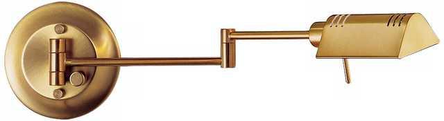 Antique Brass Halogen Pharmacy Swing Arm Wall Lamp - Lamps Plus