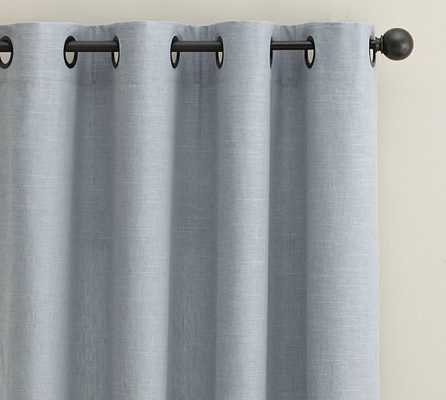 "EMERY LINEN/COTTON GROMMET DRAPE 50 X 84"" - Pottery Barn"