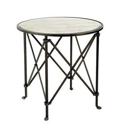 "Olivia 30"" Round Mirrored Side Table - Ballard Designs"