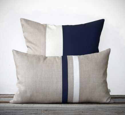 Navy Decorative Pillow Set - Etsy