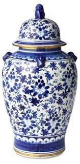 """19"""" Floral Ginger Jar, Blue - One Kings Lane"""