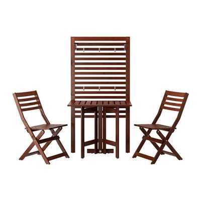 ÄPPLARÖ Wall panel, gateleg table & 2chairs - Ikea