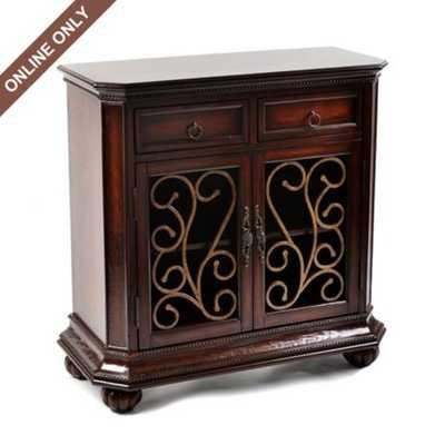 Wood Mahogany Wynstone Cabinet - kirklands.com