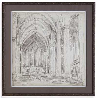 INTERIOR ARCHITECTURAL SKETCH III FRAMED WALL ART - Home Decorators