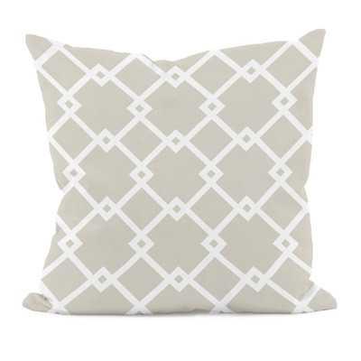 Bo Geometric Throw Pillow - Oatmeal - 18x18 - With Insert - Wayfair